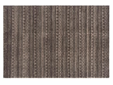 Patterned rectangular wool rug CIRUS