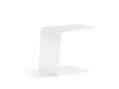 Aluminium garden side table CLOSED SIDETABLE 36 | Garden side table