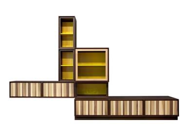 Parete attrezzata modulare in legno BOISERIE By CLEI design ...