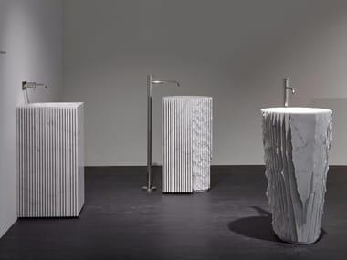 Lavabo freestanding in marmo CONTROVERSO
