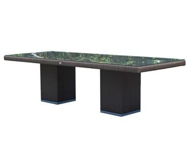 Mesa rectangular para jardín para restaurantes CUATRO PACIFIQUE 2379
