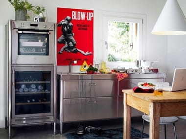 """Linear stainless steel kitchen CUCINA 190 """"BLOW UP"""""""
