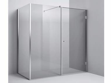 Chiusura doccia angolare anta battente e vetro fisso Chiusura doccia angolare - anta battente