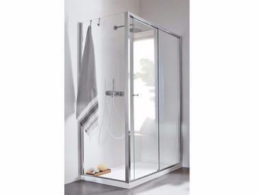 Chiusura doccia ad angolo con anta scorrevole Chiusura doccia ad angolo - Scorrevole