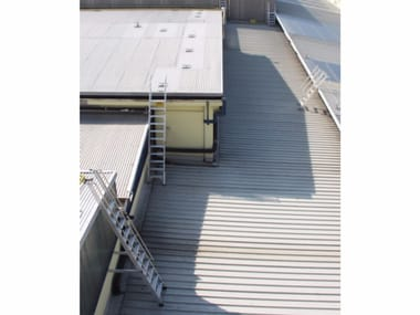 Metal fire escape staircase Customized stairs for roofs
