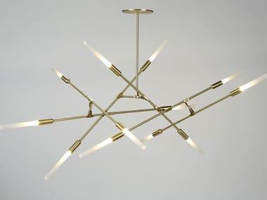 LED direct light brass pendant lamp DAWN