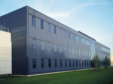 Panel para fachada de vidrio esmerilado DECORFLOU® BIFLOU