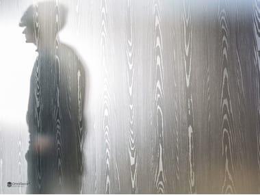 Parete mobile in vetro decorato DECORFLOU® DESIGN NANTAHALA