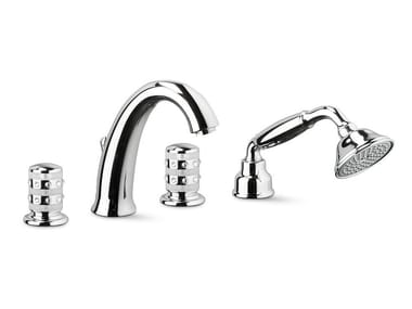 Set vasca con deviatore con doccetta con flessibile di alimentazione DELUXE PRESTIGE | Set vasca a 4 fori