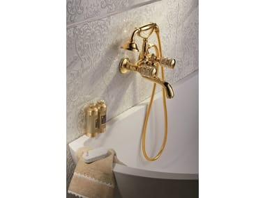 Classic style wall-mounted bathtub tap with hand shower DELUXE PRESTIGE | Bathtub tap
