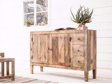 Wooden sideboard with doors with drawers DESERT QUEEN