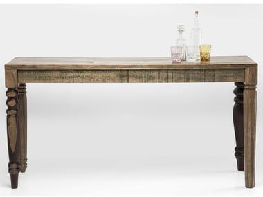 Mesa consolas retangular de madeira maciça DULD | Mesa consolas