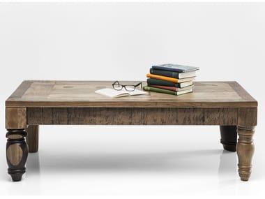 Mesa de centro retangular de madeira maciça DULD | Mesa de centro