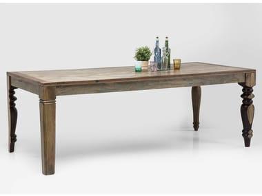 Mesa retangular de madeira maciça DULD | Mesa