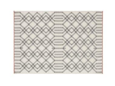 Wool rug with geometric shapes DUNA