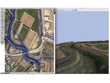 Topography, roads and gis