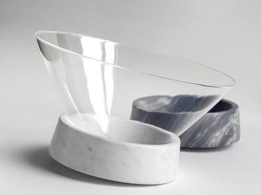 Centro de mesa de mármol de Carrara EGOCENTRICO