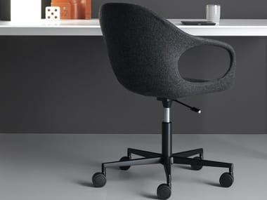 Chair with 5-spoke base with casters ELEPHANT | Chair with casters