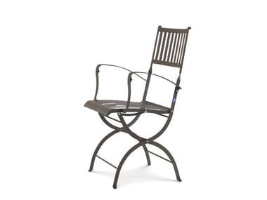 Sedia da giardino pieghevole con braccioli ELISIR | Sedia da giardino con braccioli