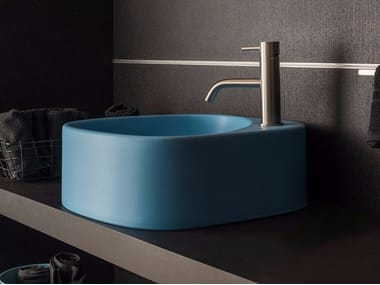 Countertop ceramic washbasin ELLE3 | Ceramic washbasin