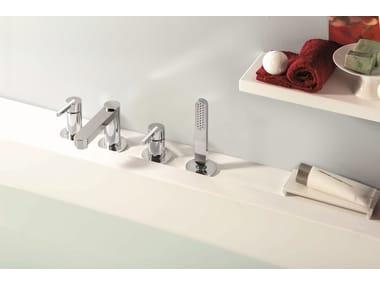 Set vasca a 4 fori con deviatore con doccetta ERGO | Set vasca a 4 fori