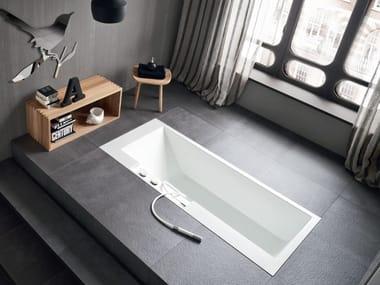 Vasca da bagno rettangolare in Corian® ERGO-NOMIC | Vasca da bagno da incasso