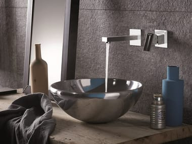 2 hole wall-mounted single handle washbasin mixer ERGO-Q | Wall-mounted washbasin mixer