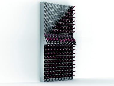 Présentoir de produits mural Vertical en acier inoxydable ESIGO 2 NET