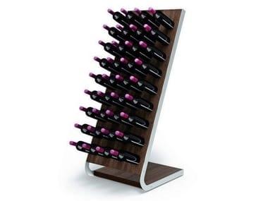 Stainless steel and wood bottle rack ESIGO 4 TECH