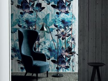 Washable wallpaper with floral pattern ETHERNITY