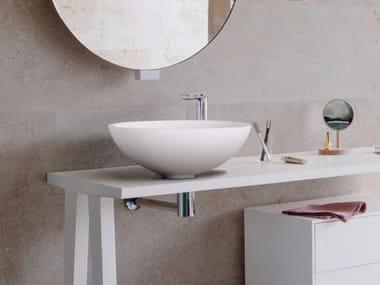 lavabo sobre encimera redondo de corian expo lavabo sobre encimera