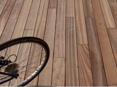 Solid Wood Outdoor Parquet External Wooden Floors