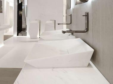 Countertop rectangular natural stone washbasin FACES | Countertop washbasin