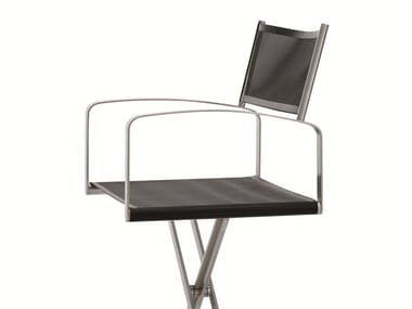 Folding technical fabric chair with armrests FELLINI