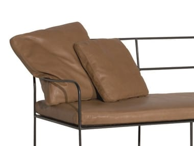 Square leather cushion GIRGENTI | Cushion