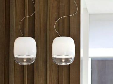 Blown glass pendant lamp GONG | Pendant lamp