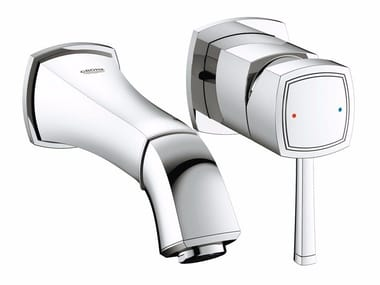 2 hole single handle washbasin mixer GRANDERA™ SIZE S | Wall-mounted washbasin mixer