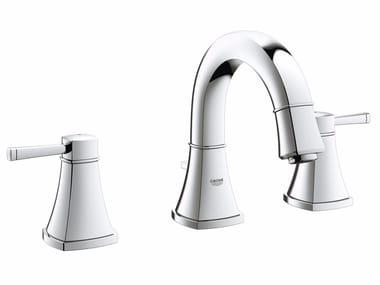 Robinet pour lavabo 3 trous à poser avec garniture d'écoulement GRANDERA™ SIZE S | Robinet pour lavabo