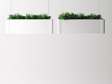 Hanging aluminium plant pot GREEN LIGHT_C