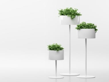 Aluminium plant pot GREEN CLOUD