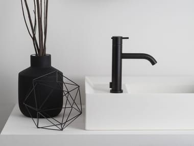 Countertop 1 hole washbasin mixer with diverter HAPTIC | Washbasin mixer with diverter