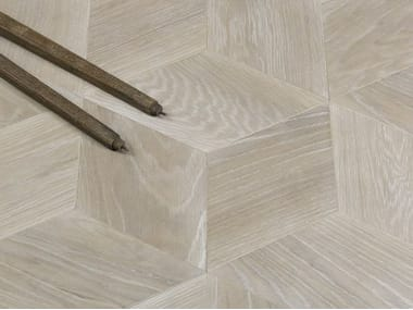 Brushed English oak parquet HEXAGON 3 pcs