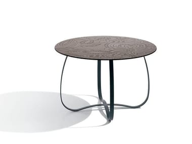 Low round glass coffee table HOLLY GLASS