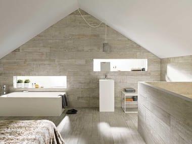 Piso de grés porcelânico com efeito de madeira para interior e exterior HOUSTON