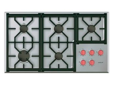 Piano cottura a gas da incasso in acciaio inox ICBCG365P/S PROFESSIONAL | Piano cottura
