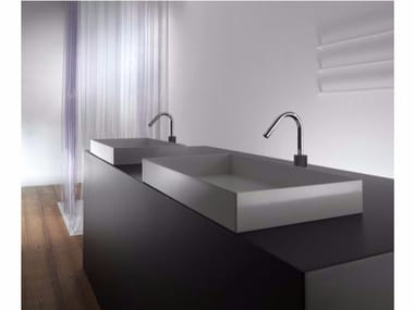 Rectangular metal washbasin ILA60 | Countertop washbasin
