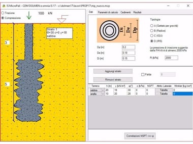 Pile and micropile calculation IS MICROPALI