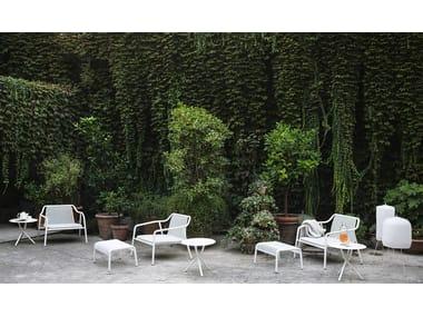 Garden armchair with footstool JACKET OUTDOOR
