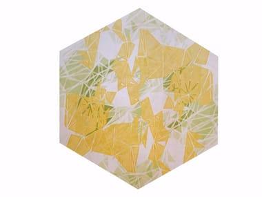 Patterned polyamide rug KALEIDO