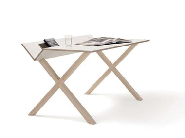 Rectangular multi-layer wood writing desk KANT